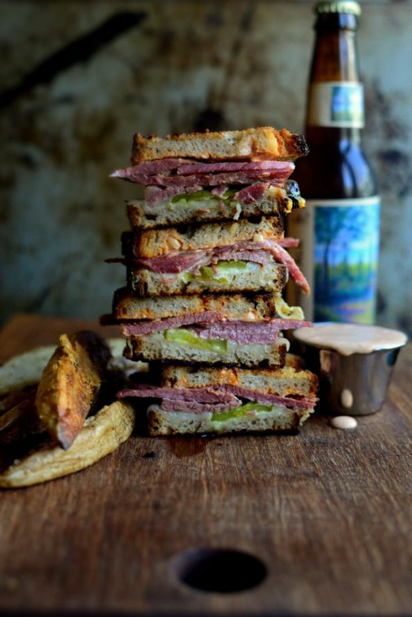 Recipe of the Week: Corned Beef Sandwich with Swiss on Rye