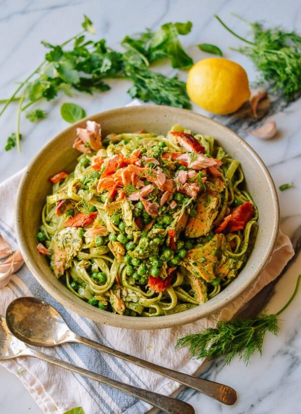 Recipe of the Week: Salmon Pasta with Green Goddess Pesto