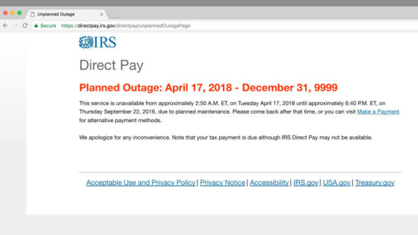 IRS Extends Tax Deadline Until Wednesday After Its Direct Pay System Melts Down