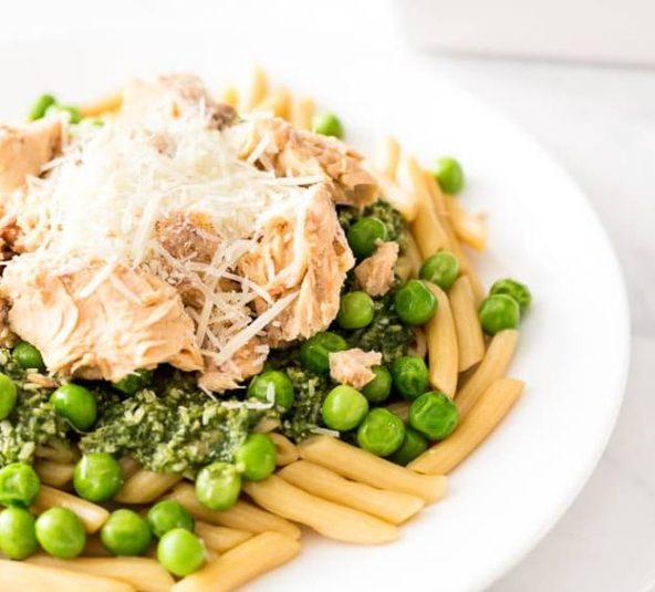 Recipe of the Week: Easy Salmon Pesto Pasta